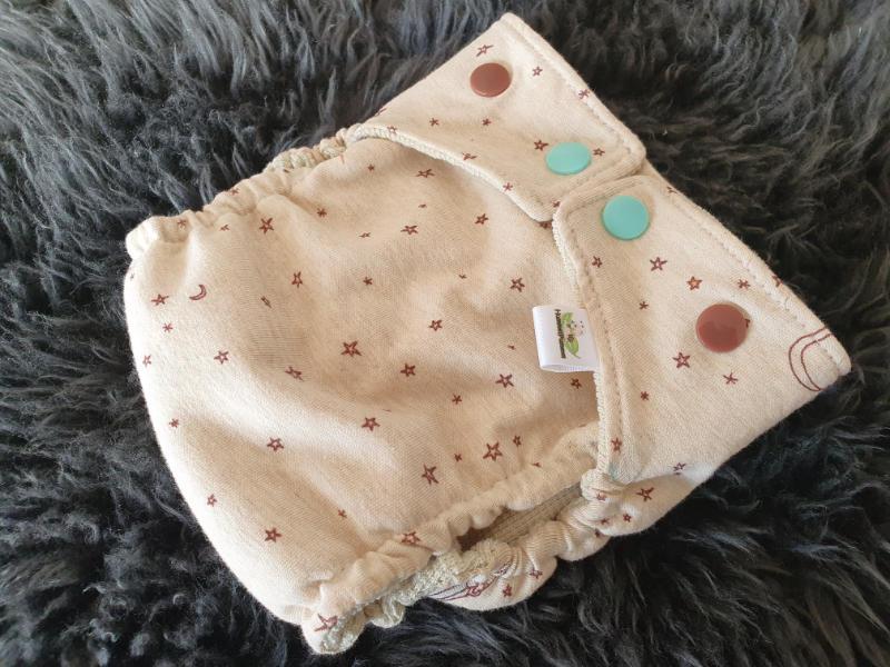 Sternennacht Überhose Newborn Druckknöpfe + Gummibündchen