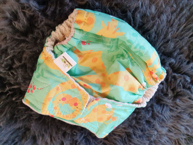 Giraffen Überhose Newborn Klett + Gummibündchen